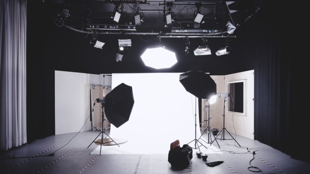 Photo of studio lighting setup