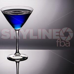 Blue Martini Glass With Water Drop - Skyline FBA