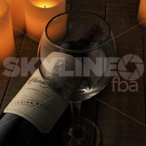 Creative Wine Shot With Candles - Skyline FBA