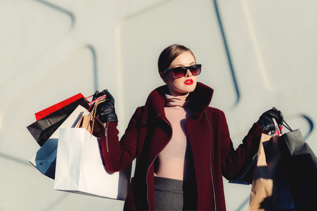 Picture of lady shopping