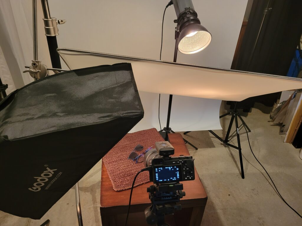 Behind the scenes image in our studio.